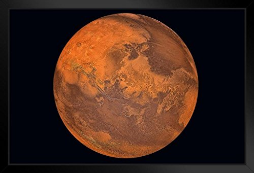 Planet Mars The Red Planet Photo Photograph Art Print Stand or Hang Wood...