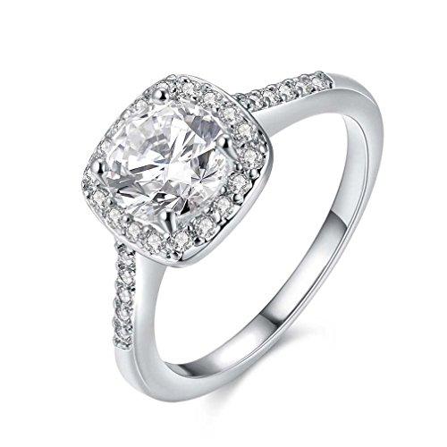 Souarts Ring Damen Schmuck Silber Gold Rosegold Farbe Edelstahl mit Zirkon Strass Geschenk für Frauen