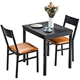 HOMURY 3 Piece Dining Table Set with Cushioned Chairs, Modern Counter Height...
