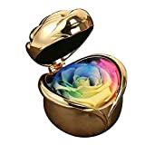 HJGHY Rosa Flor Eterna, Regalo Madre,para Siempre Rose con el Diamante y el Amor Rose Caja, Regalo del Día de la Madre para el Día de San Valentín, Navidad, Día de Acción de Gracias, Cumpleaños,A