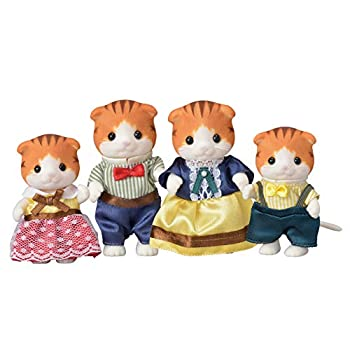 Calico Critters Maple Cat Family Dolls Dollhouse Figures Collectible Toys