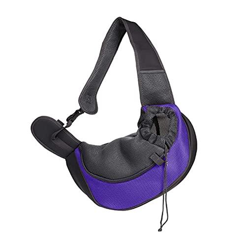 WEIQING Bolsa de viaje para perro pequeño con manos libres para mascotas y cachorros, reversible