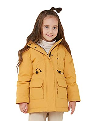 Orolay Girl's Thickened Down Jacket Boy's Packable Winter Coat Hooded Puffer Jacket Yellow 130CM
