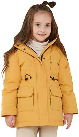 Orolay Children Down Coats Quilted Hooded Fashion Jacket Yellow 140CM product image