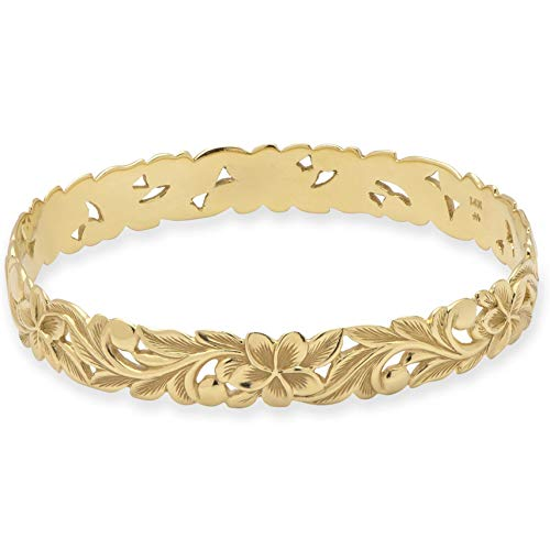 Hawaiian Scalloped Queen Design Bangle Bracelet