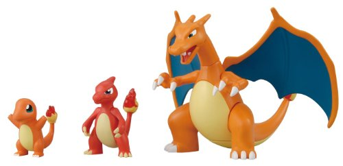 Pokemon Evolution Plastic Modeling Kit Charmander Charmeleon Charizard Plamo Figure Toy Lizardon Bandai (Japanese Import)