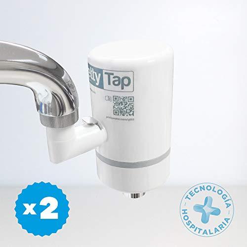 PrettyTap ~ 2 Filtros de Agua para la Cocina + Conector ~ Calidad hospitalaria ~ Agua 100% Pura
