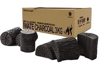 [クイックキャンプ] 岩手木炭 3kg 着火剤セット QC-IWC03 岩手切炭 IWATE CHARCOAL 黒炭 なら堅一級