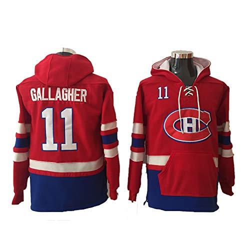 Yajun Kapuzen Pullover Hoodie NHL Shea Weber#6/Brendan Gallagher#11/Carey Price#31 Montreal Canadiens Sweatshirt Warmes Langärmliges Loses T-Shirt Atmungsaktive Eishockey Trikots,11,2XL