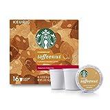 Starbucks Toffeenut Flavored Medium Roast Single Serve Coffee for Keurig Brewers 16 Drinks