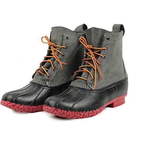 [エルエルビーン] 【アウトレット】 us8(26cm) Boots ブーツ ビーンブーツ 6ホール グレー&ブラック [並行輸...