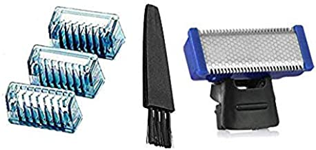 Replacement Shaver Head Shaver Comb 3 PCS with Brush for Electric Solo Shaver Electric Shaver Head Trimmer Head Solo Micro Touches Replacement Tooth Combs
