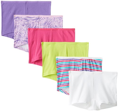 Hanes Womens 6 Pack Boyshort , Assorted, Size 5