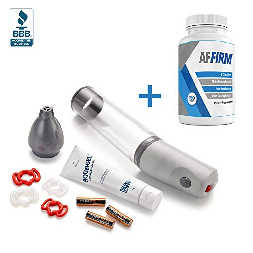 Gesiva Automatic Vacuum Therapy System Kit | Pump & 4 Bands - Plus AFFIRM L-Citrulline Dietary Supplement 750mg