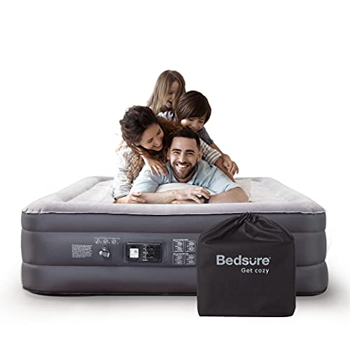 """Bedsure Queen Air Mattress with Built in Pump - 18"""" Raised Inflatable Mattress Double Air Beds for Camping and Indoor Use"""