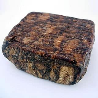 HalalEveryDay Raw African Soap from Ghana, Shea Butter, Black, 1 lb.