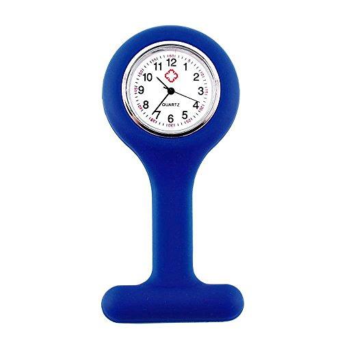 OUTLETISSIMO® Reloj doctor de enfermeras azul de silicona con broche de bala