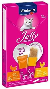 Vitakraft Jelly Lovers Snack pour Chat en Gelée à la Viande Boîte de 6 Sachets de 15 g
