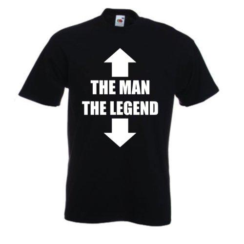 The Man The Legend T-shirt (XL, Noir)