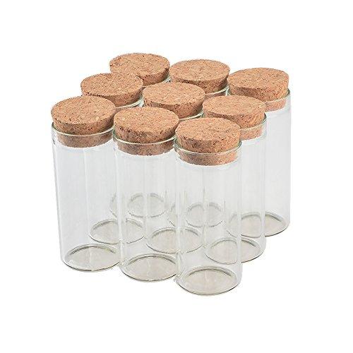 Jarvials 30ml Food Grade Transparante Test Tube Fles met Kurk voor het opslaan van vloeistof, zoethout, thee, poeder, enz. (12, 30ml)