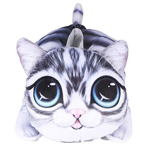 Caja de pañuelos, caja de pañuelos 3D gato perro en forma de coche dibujos animados colgante caja de pañuelos titular suministros de mejora del hogar(Gato de ojos grandes6548)