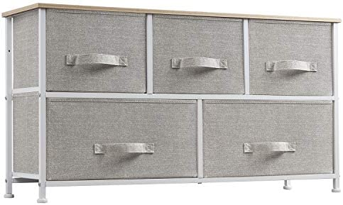 WLIVE 5 Drawer Dresser for Bedroom Organization and Storage Fabric Drawer Organizer for Clothes product image