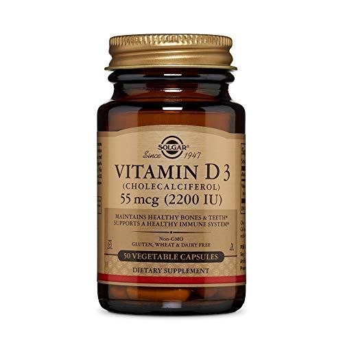 Solgar Vitamin D3 Vegetable Capsules, Pack of 50