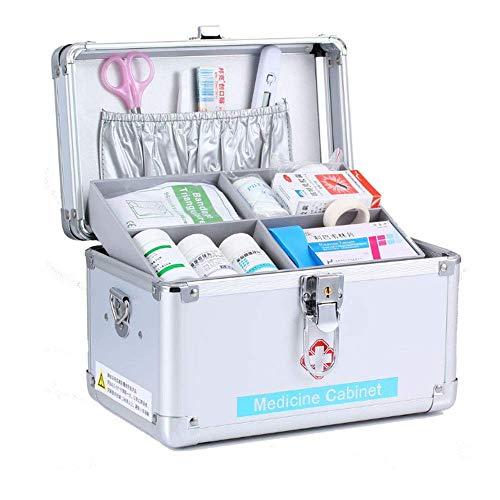 Draagbare EHBO-doos, eerstehulpset voor noodgevallen met aluminium slot, survivalkits, veiligheidsslot, opbergdoos met draaggreep.