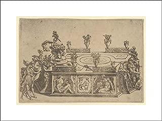 Cherubino Alberti (Zaccaria Mattia) - 20x14 Art Print by Museum Prints - Triumphal car from The Marriage of Ferdinand de' Medici and Christine of Lorraine