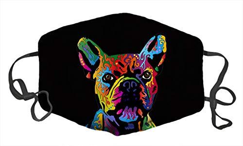 LuxSweet French Bulldog Jigsaw Puzzle Unisex Face Decorative Adjustable Ear Loops Breathable Washable