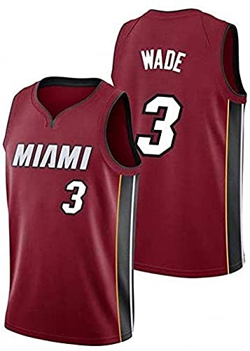 AGLT Hombre Basketball Jersey NBA Miami Heat n#3 Wade Ropa de Baloncesto Camisetas Al Aire Libre Casual Mujer Verano Cuello Redondo CháNdales,2,M