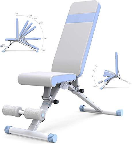 Cnley Banco de pesas plegable para el hogar mejor banco de pesas ajustable plegable casa gimnasio equipo