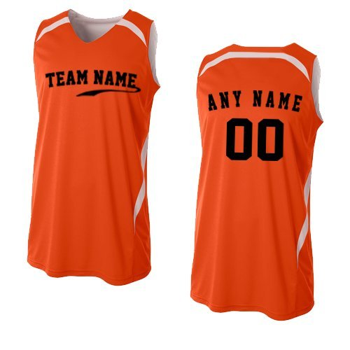 7abadb276 2-Color Reversible (CUSTOM or Blank Back) Basketball Uniform Jersey Tank  Top (