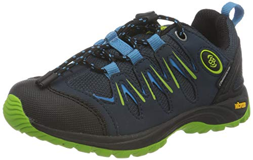 Brütting Expedition Kids Outdoor- & Trekkingschuh Unisex Kinder, Marine/ Blau/ Lemon, 36 EU