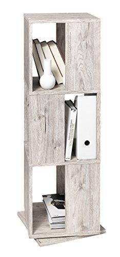 FMD furniture 291-001E - Estantería giratoria (imitación de Madera de Roble arenoso, Dimensiones Aprox. 34 x 108 x 34 cm (BHT), aglomerado Recubierto de Resina de melamina.