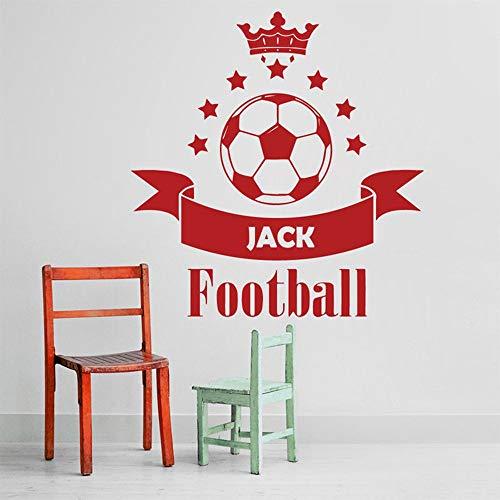 Tianpengyuanshuai Fußball Benutzerdefinierten Namen Vinyl Wandtattoo Aufkleber Junge Schlafzimmer Home Interior Design einfach und elegant 70x75cm