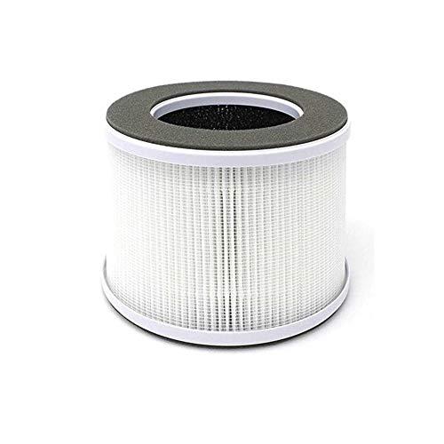 MeiZi ホームイオン空気清浄小型空気清浄システムのための家のためにROGOGLIOSO真のHEPA空気清浄機のフィルター交換の互換性フィット (Color : White)