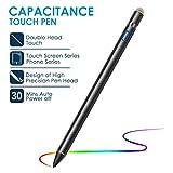 VIFLYKOO Lápiz para Pantalla Táctil, Lápiz USB Activo Recargable para teléfonos iOS y Android, Huawei,teléfono Inteligente, Escritura y Dibujo en Tableta, Punta Ajustable-Negro (Negro 1)