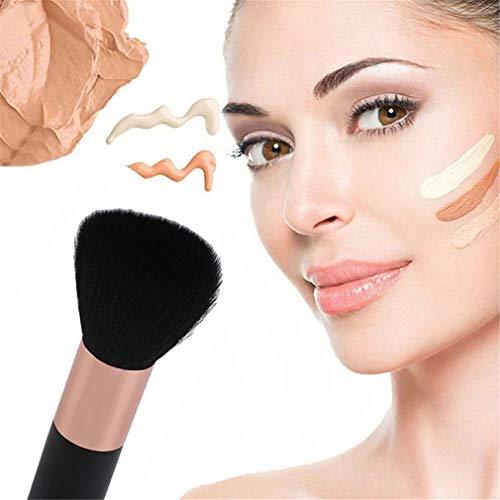 Mvude Outil cosmétique de maquillage portable de brosse de poudre de visage parfait pour mélanger le liquide, la crème, le polissage, le correcteur
