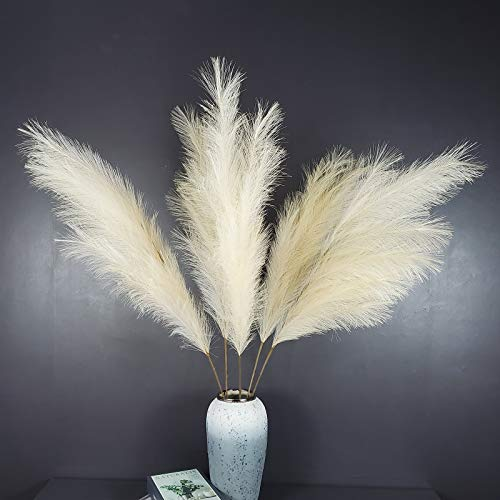 TRvancat 120cm große Pampasgras 3 Stiele für Blumen Arrangements Hochzeit Home Boho Dekor