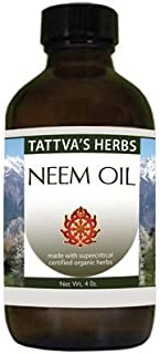 Organic Neem Oil - Non GMO Nourishes Itchy, Dry, Irritated Skin, Promotes Healthy Skin - Cold Pressed Unref...