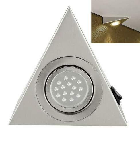 Adoture 3er Set LED Dreieckleuchte Unterbauleuchte Küchenleuchte Warm weiß