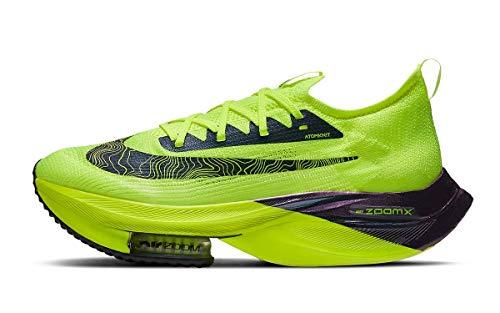 Nike NK Air Zoom ALPHAFLY Next% FK, Zapatillas para Correr Hombre, Volt Black Racer Blue Multi Color White, 42 EU