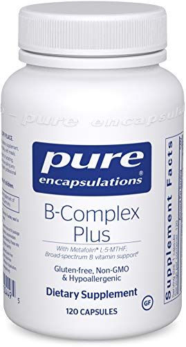 Pure Encapsulations - B-Complex Plus - Balanced B Vitamin Formula with Metafolin L-5-MTHF and Vitamin B12 - 120 Capsules