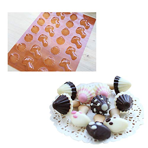 Mushrooms Chocolate Mold, Chocolate Making Tools for Ladyfingers Cookies Decoration - 2 pcs