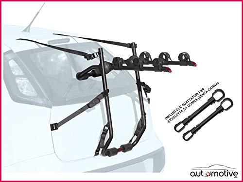 Proposteonline Portabici Posteriore 3 Bici Omologato Compatibile con Mercedes Classe B 5 Porte dal 2005 al 2010 Inclusi Due Adattatori per Bicicletta da Donna Senza Canna 008387