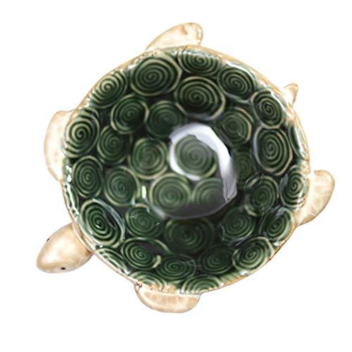Hemoton Plato de Joyería de Tortuga Verde Tortuga Anillo de Jabón de Cerámica Baratija Candy Nut Cenicero Bandeja Soporte para La Decoración del Hogar de La Boda S