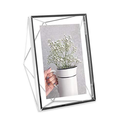 Umbra Prisma - Marco de fotos (12,7 x 17,8 cm, acabado cromado)