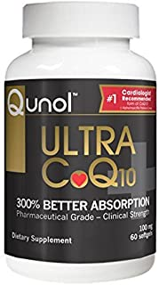 Ultra CoQ10, 100 mg, 60 Softgels - Qunol - UK Seller by Qunol