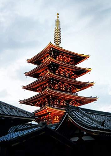 Tangram 1000 piezas templo de oro marrón nube blanca juego de descompresión...
